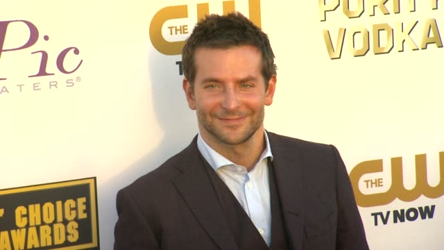 bradley cooper at 19th annual critics' choice movie awards - arrivals at the barker hanger on in santa monica, california. - critics' choice movie awards stock videos & royalty-free footage