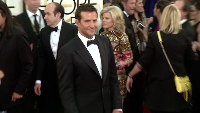 Bradley Cooper at 71st Annual Golden Globe Awards Arrivals at The Beverly Hilton Hotel on in Beverly Hills California