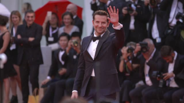 gif bradley cooper at 75th venice international film festival gif on august 28 2018 in venice italy - international cannes film festival stock videos & royalty-free footage