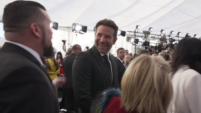 bradley cooper at the 25th annual screen actors guild awards social ready content at the shrine auditorium on january 27 2019 in los angeles... - screen actors guild awards stock videos & royalty-free footage