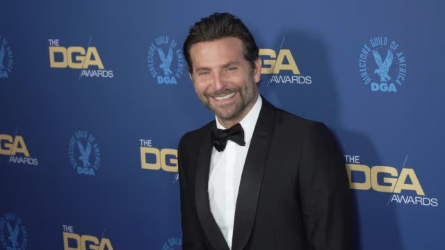 bradley cooper at the 71st annual dga awards at the ray dolby ballroom at hollywood highland center on february 02 2019 in hollywood california - director's guild of america stock videos & royalty-free footage