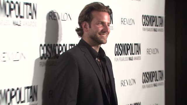 bradley cooper at the cosmopolitan honors its fun fearless males of 2009 at los angeles ca. - 2009 stock videos & royalty-free footage