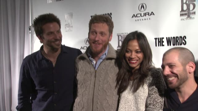 Bradley Cooper Brian Klugman Zoe Saldana Lee Sternthal Dennis Quaid and Ben Barnes at Acura Hosts 'The Words' Cast Dinner At The Acura Studio in Park...