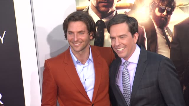 bradley cooper ed helms at the hangover part iii los angeles premiere 5/20/2013 in westwood ca - the morning after stock videos and b-roll footage