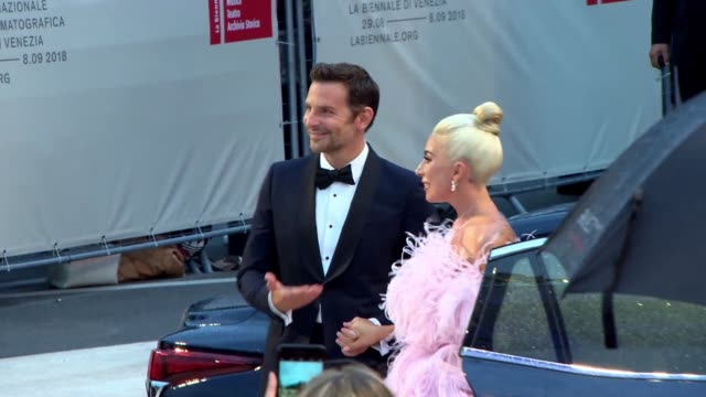 gif bradley cooper lady gaga attend 'a star is born' red carpet during the 75th venice international film festival on august 28 2018 in venice italy - lady gaga gifs stock videos & royalty-free footage