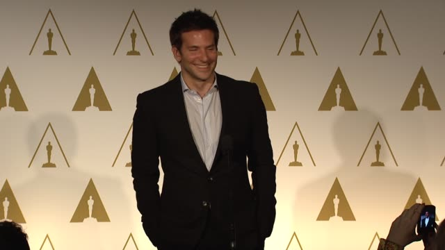 vidéos et rushes de bradley cooper on who he wants to hang out with after the academy awards at the 86th academy awards nominee luncheon - reception at the beverly... - academy awards