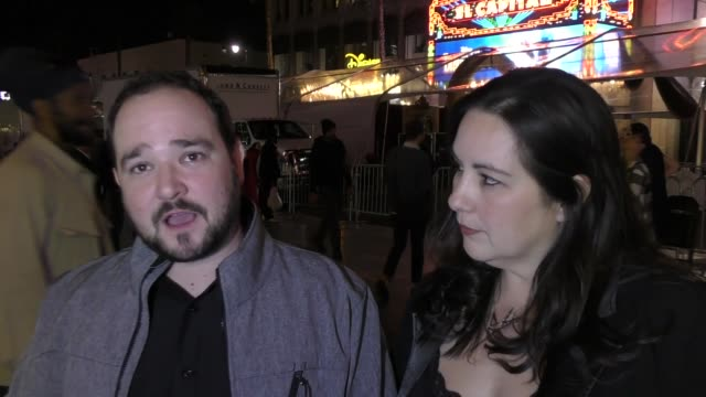 interview bradley pierce bella luna talk about his movie beauty the beast outside beauty and the beast premiere at el capitan theatre in hollywood in... - el capitan theatre stock videos & royalty-free footage