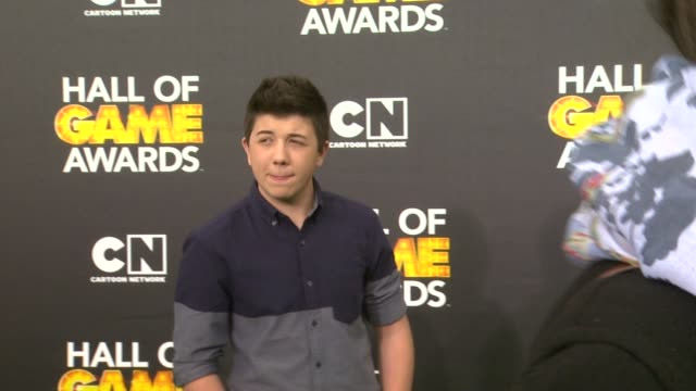 bradley steven perry at cartoon network hosts fourth annual hall of game awards at barker hangar on february 15, 2014 in santa monica, california. - barker hangar stock videos & royalty-free footage