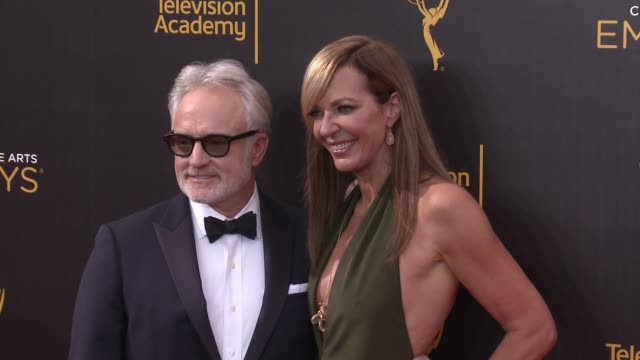 Bradley Whitford and Allison Janney at the 2016 Creative Arts Emmy Awards Day 1 Arrivals at Microsoft Theater on September 10 2016 in Los Angeles...