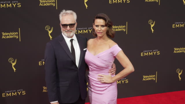 bradley whitford and amy landecker at the 2019 creative arts emmy awards - day 2 at microsoft theater on september 15, 2019 in los angeles,... - bradley whitford stock videos & royalty-free footage