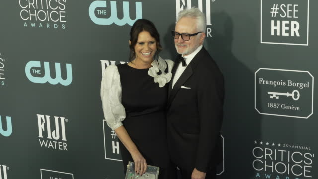 bradley whitford and amy landecker at the 25th annual critics' choice awards at barker hangar on january 12, 2020 in santa monica, california. - bradley whitford stock videos & royalty-free footage