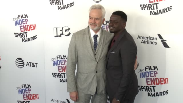 bradley whitford and daniel kaluuya at the 2018 film independent spirit awards on march 03 2018 in santa monica california - daniel kaluuya stock videos and b-roll footage