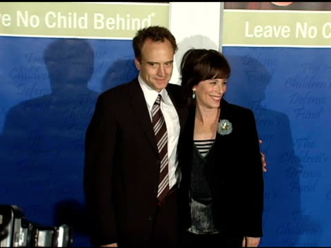 bradley whitford and jane kaczmarek at the children's defense fund's 14th annual beat the odds fundraiser at the beverly hilton in beverly hills,... - bradley whitford stock videos & royalty-free footage