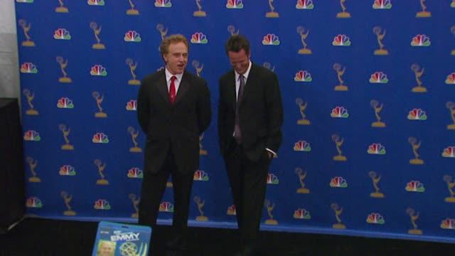 bradley whitford and matthew perry, presenters at the 2006 emmy awards press room at the shrine auditorium in los angeles, california on august 27,... - bradley whitford stock videos & royalty-free footage
