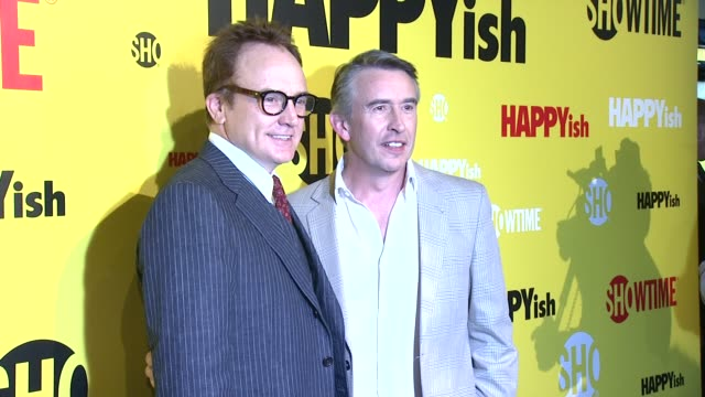 Bradley Whitford and Steve Coogan at The SHOWTIME Premiere Of The Original Comedy Series HAPPYish at Sunshine Cinema on April 20 2015 in New York City