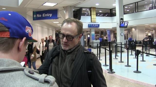 bradley whitford arrives at salt lake city airport for the sundance film festival on january 21, 2016 - bradley whitford stock videos & royalty-free footage
