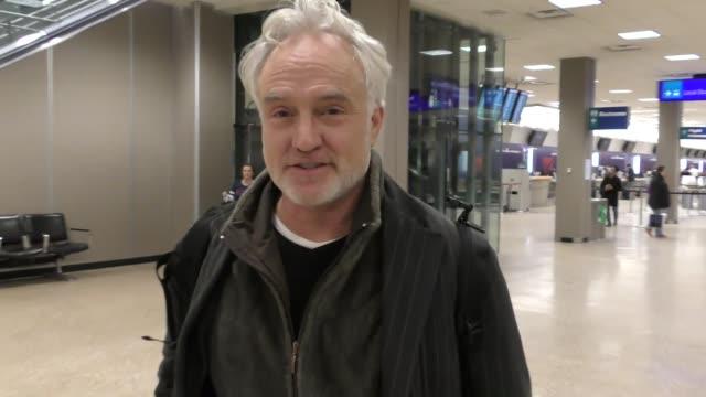 bradley whitford at salt lake city international airport in celebrity sightings in park city, ut, - bradley whitford stock videos & royalty-free footage