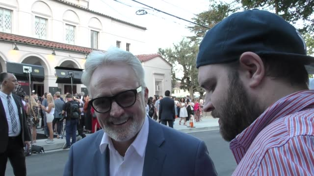 bradley whitford greets fans at the handmaid's tale hulu finale panel at the wilshire ebell theatre in los angeles in celebrity sightings in los... - wilshire ebell theatre stock videos & royalty-free footage