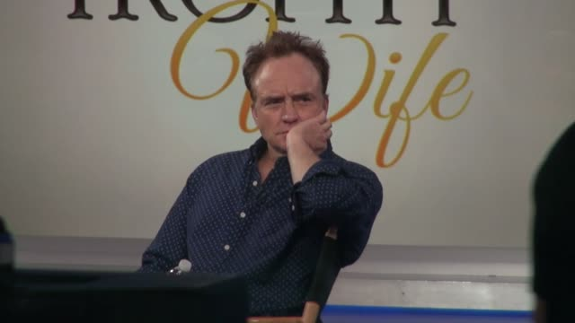 bradley whitford on the set of the good morning america show in celebrity sightings in new york, - bradley whitford stock videos & royalty-free footage
