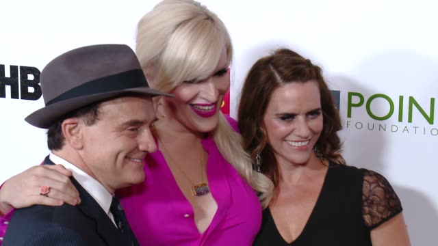bradley whitford, our lady j, and amy landecker at the point foundation's voices on point gala at the hyatt regency century plaza on october 03, 2015... - bradley whitford stock videos & royalty-free footage