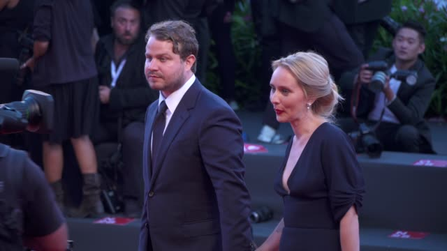 brady corbet and wife arrive on the red carpet of 'vox lux' during the 75th venice film festival on september 4 2018 in venice italy - film festival stock videos & royalty-free footage