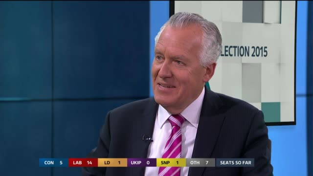 brady peter hain live studio interview sot on message from this election kilmarnock and dunbartonshire west declared as snp gains stephen dorrell... - ジュリー エッチンガム点の映像素材/bロール