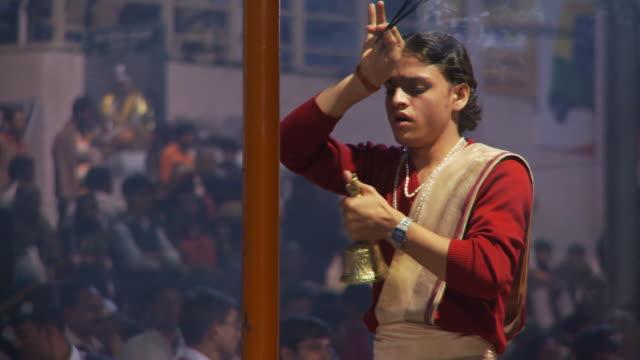 Brahmin Priest ringing bell
