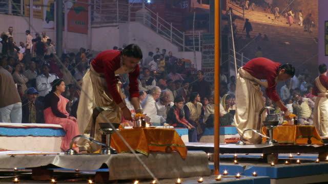 Brahmin Priests  preparing Aarti ceremony