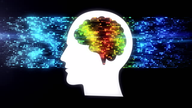 brain data flow - head stock videos & royalty-free footage