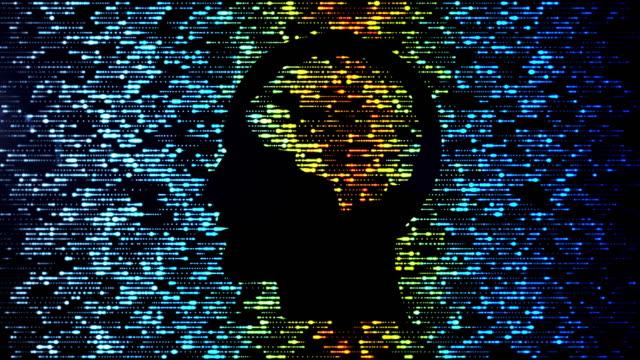 brain data flow - emisfero cerebrale video stock e b–roll
