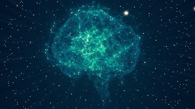 gehirnmodell mit neuron und rezeptor - cerebellum stock-videos und b-roll-filmmaterial