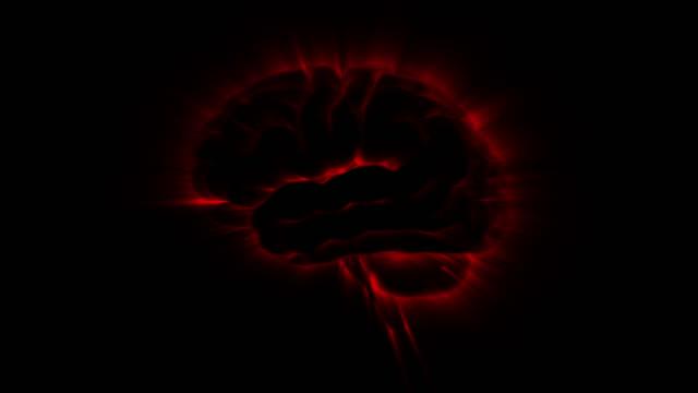 brain of active loop red - brain stem stock videos & royalty-free footage
