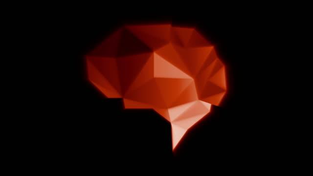 vídeos de stock, filmes e b-roll de cérebro poli da cor vermelha - articulação facetária