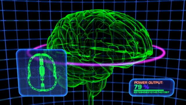 Brain Scan Computer Display Simulation, HD Element