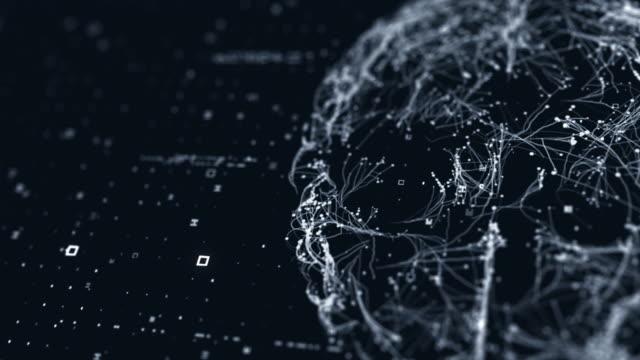 vidéos et rushes de scanner technologique du cerveau - affichage digital
