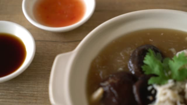 Braised Fish Maw in Red Gravy Soup