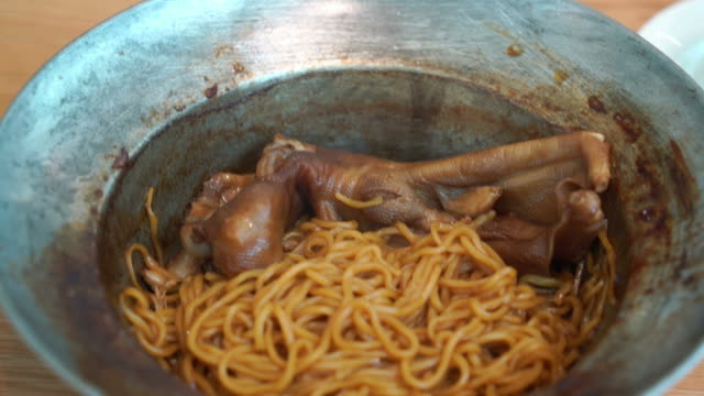 braised goose leg with noodles - braised stock videos and b-roll footage
