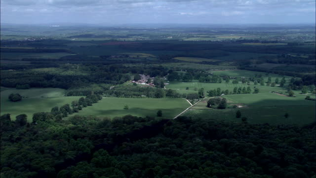bramham park  - aerial view - england, leeds, wothersome, united kingdom - leeds stock videos and b-roll footage