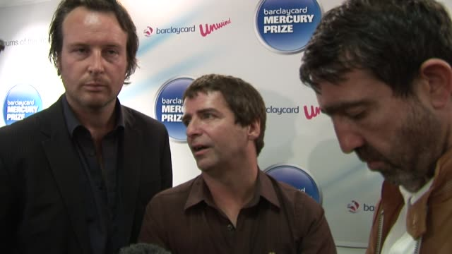 bramwell on changing and developing their music through time, on not being concerned about what other people think. at the barclaycard mercury prize... - mercury music prize stock-videos und b-roll-filmmaterial
