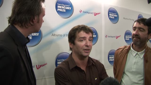 bramwell on the nominees, on being successful at music at the barclaycard mercury prize nominations at london england. - mercury music prize stock-videos und b-roll-filmmaterial