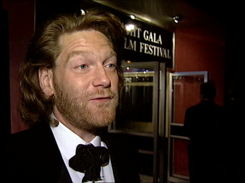 'FRANKENSTEIN' OPENS ITN Branagh along PAN LR in cinema as greets people CMS Kenneth Branagh intvw SOT This is classic/ needs different light...