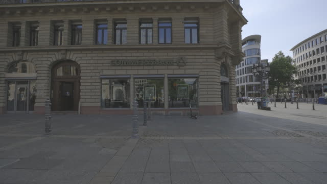 stockvideo's en b-roll-footage met branch of commerzbank ag at opernplatz frankurt germany on tuesday august 4 2020 - gevel