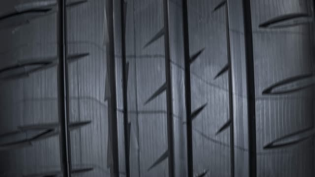 brand new car tire - tire tread - tire track stock videos & royalty-free footage