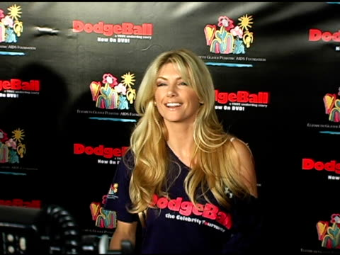 brande roderick at the dodgebal the celebrity tournament at hollywood palladium in hollywood california on december 8 2004 - hollywood palladium stock videos & royalty-free footage