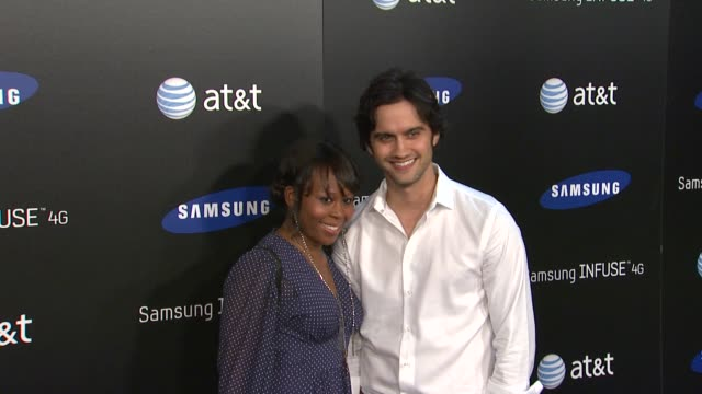 brandee tucker, michael steger at the samsung infuse 4g for at&t launch event featuring nicki minaj at los angeles ca. - tucker stock videos & royalty-free footage