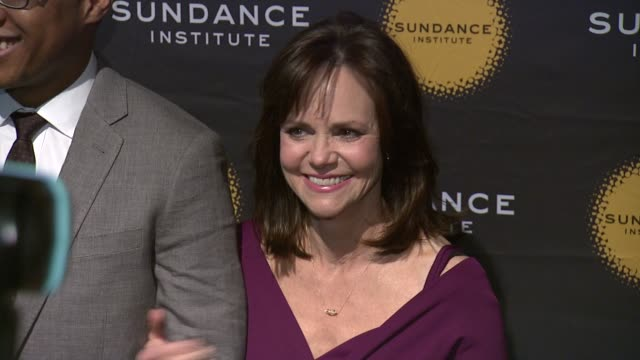 branden jacobsjenkins and sally field 2013 tennessee williams award at 711 greenwich street on april 08 2013 in new york new york - sally field stock videos & royalty-free footage