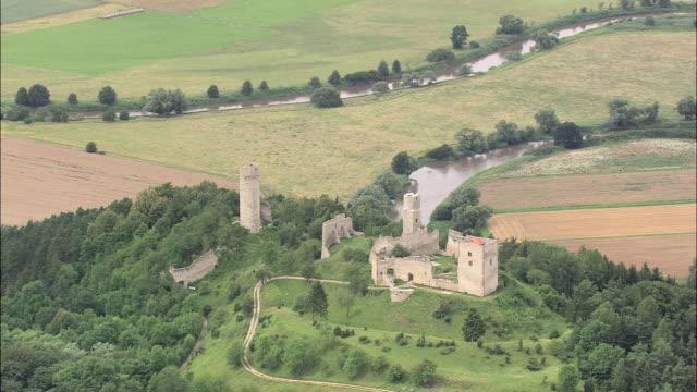 brandenburg castle ruins - turingia video stock e b–roll