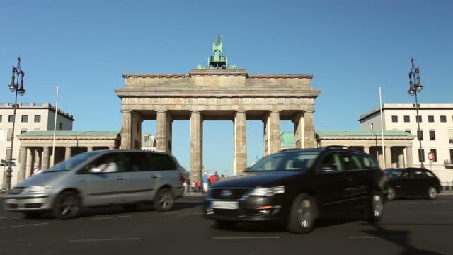Brandenburg Gate and Traffic