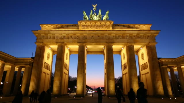HD: Brandenburg Gate at night, Berlin