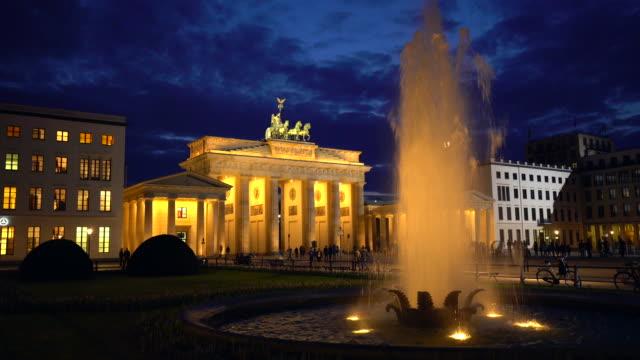 4K - Brandenburg Gate at sunset